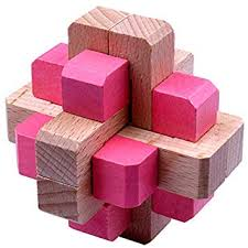 Asallway 1 Pcs 3D Wooden Brain Teaser Puzzle, <b>Children Kids</b> ...