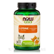 <b>L</b>-<b>лизин</b> для кошек (L-lysine for cats) 226.8 г NOW Foods Купить в ...