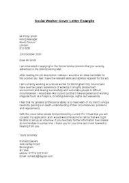 social worker cover letter sample social  tomorrowworld cosocial worker cover letter example