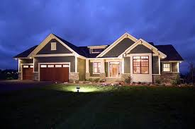 House Plan at FamilyHomePlans comCraftsman Traditional House Plan Elevation