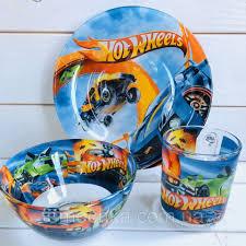 Набор детской посуды тарелка <b>чашка</b> для детей <b>Hot Wheels</b> Хот ...