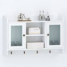 Chloe Rossetti <b>White MDF Wall Cabinet</b> Display Shelf: Amazon.in ...