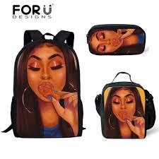 <b>FORUDESIGNS</b> Afro Lady <b>Black</b> Girl Magic Printing <b>Backpack</b> ...