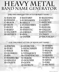 Heavy Metal Band Name Generator | WeKnowMemes via Relatably.com