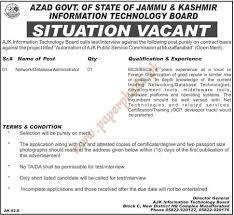 azad govt of state of jammu kashmir information technology board azad govt of state of jammu kashmir information technology board jobs the news jobs ads 24 2014