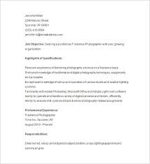 freelance photographer resume template photography resume template