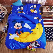 Disney <b>Mickey</b> moon <b>Комплект постельного белья</b>, Синий ...