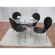4 chair kitchen table: dining room modern white leather high backrest chairs combined with modern white office