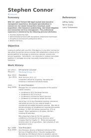 vp general counsel resume samples general resume example