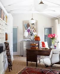 retro white office room with charming decorating ideas home office space