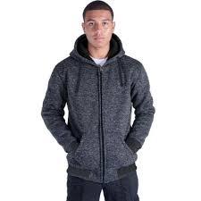 Plus Size <b>S</b>-<b>5XL</b> Marled Heavyweight Fleece Hoodie for <b>Men</b> ...