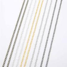 <b>5m</b>/<b>lot</b> Iron <b>Metal Necklace Chains</b> Bulk Gold Silver Bronze Rhodium ...