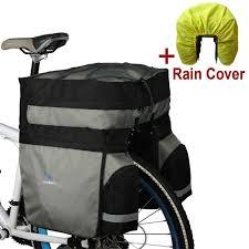 3 in 1 ROSWHEEL <b>60L</b> Rear <b>Bicycle</b> bag Pannier MTB <b>Large</b> ...