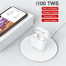 <b>I100 TWS Wireless</b> Charging Pop-up Touch Bluetooth Headset ...