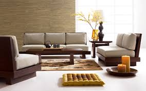 modern japanese living room ideas with yellow seat cushion and beautiful sofa design with large wooden beautiful living room furniture