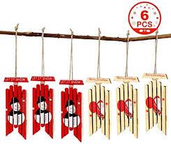 OurWarm 6pcs Hanging Wooden Sled Christmas ... - Amazon.com
