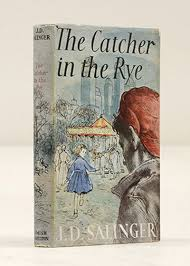 SALINGER  J  D  middot  The Catcher in the Rye London  Hamish Hamilton         Octavo  Original blue boards  titles to spine in silver  With the dust jacket  viaLibri