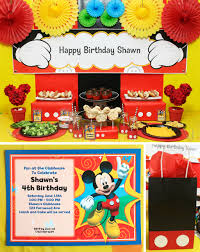 mickey mouse party mickey s clubhouse party at birthday in a box mickey party invitations