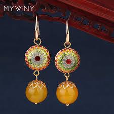 New <b>Original</b> colored glaze <b>earrings</b>,Big star <b>handmade</b> blue stone ...