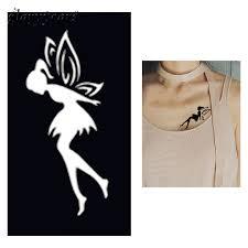 <b>1pc Fairy Butterfly</b> Henna Tattoo Stencil Woman Chest Body Art ...