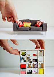 mini modern dollhouse furniture via the new york times image david azia for cheap doll houses with furniture