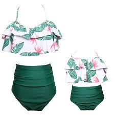 sexy <b>swimwear mother daughter bikini</b> family look <b>mommy</b> and me ...