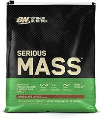 <b>Serious Mass</b> Weight <b>Gainer Protein</b> Powder, Chocolate, 12 pound ...
