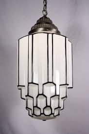 amazing antique art deco pendant light with skyscraper globe c 1930s preservation station art deco replica furniture