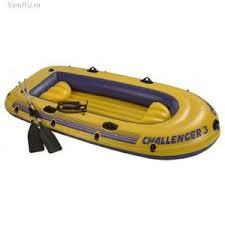 Надувная <b>лодка Intex Challenger 3</b> 68370NP с веслами, насосом ...