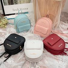 Mini <b>Backpack Women</b> PU <b>Leather</b> Shoulder <b>Bag</b> For Teenage <b>Girls</b> ...