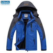 <b>Ski Jacket</b> Men Waterproof Fleece <b>Snow Jacket</b> Thermal Coat For ...