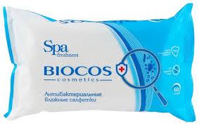 Купить <b>Влажные салфетки BioCos антибактериальные</b> 60 шт. по ...