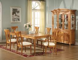 Oak Furniture Dining Room Light Oak Finish Table Chairs Lexington Formal Dining Room Light
