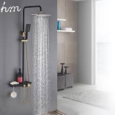 2019 <b>Hm Black Gold Faucet</b> Shower System Bathroom Toilet Rack ...