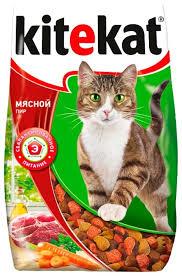 <b>Корм для кошек Kitekat</b> Мясной Пир — купить по выгодной цене ...