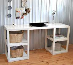perfect design of best home office desk made of wooden material in white color best colors for home office