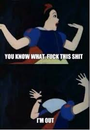 Snow White all turnt. Bitches be crazy | Funny | Pinterest | Snow ... via Relatably.com