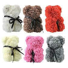 2019 Presale <b>24cm</b> Soap Foam Bear Of Roses <b>Teddy Bear</b> Rose ...