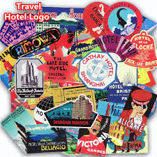 Best Seller 55 <b>Pcs Retro</b> Style Travel Hotel Stickers for Laptop ...