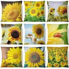 Sunflower flower Printed Double-sided Printing Square ... - Vova