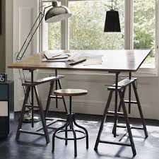 show your metal track down old school desks and army trunks as workplace design is moving into the home artistic home office track