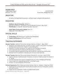 student teacher resume sample breakupus sweet consultant sample student teacher resume sample resume example education art teacher examples early education resume examples