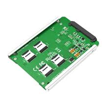 4 <b>Micro SD</b>/<b>TF</b> Card to SATA 22pin Adapter RAID Quad TF...