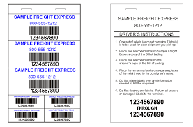 freight pro labels greenway print solutions printing 25 sheets per book barcodes any symbology are standard dozens of formats available and can make any format you wish