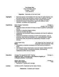 paramedic resume template  seangarrette coprintable paramedic resume template free paramedic resume template   paramedic resume