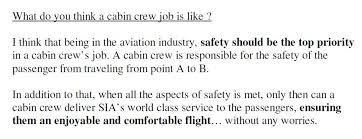 journey through life  more cabin crew interview q   a sampleshere comes more cabin crew interview questions and answer samples from a sia cabin crew  even if she have written about sia  i think this works for every