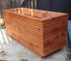 tall modern redwood planter boxes free shipping 10 50 gallon custom wood planter box solid redwood deck planter box mcm atomic age awesome custom reclaimed wood office desk