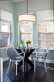 blue wall lights dining room transitional with dining table dining table breakfast nook lighting