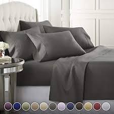 6 Piece Hotel Luxury Soft 1800 Series Premium Bed ... - Amazon.com