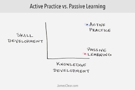 passive learning vs active practicing why you should stop practice vs learning